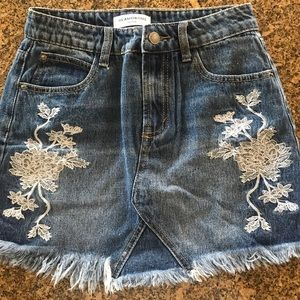 Petite size 8 glamorous jean skirt